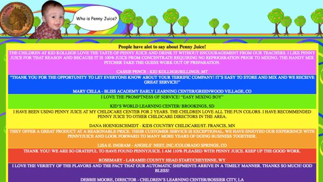 Penny Juice Website Design