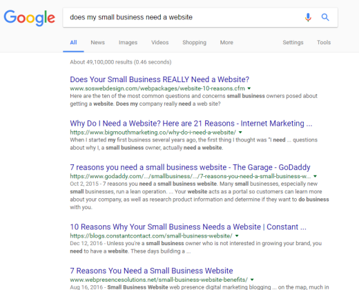 Still think your business doesn't need a website? Or maybe you're an